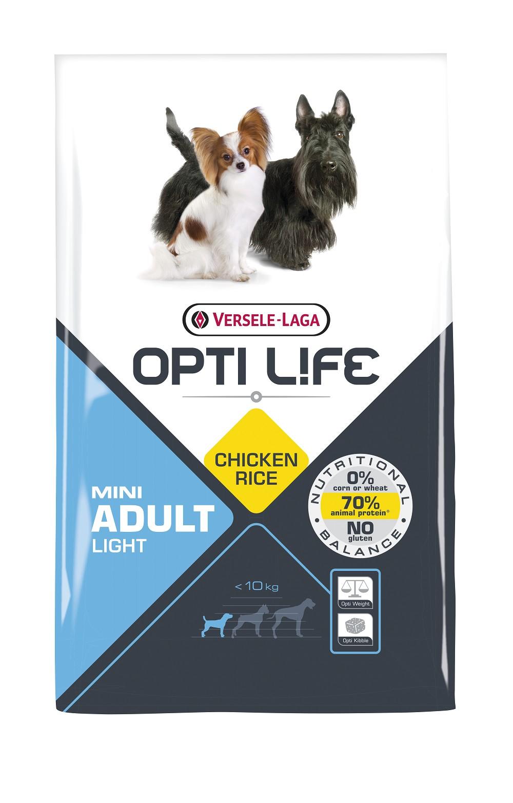 Versele laga Opti Life Adult Light Mini hundefoder
