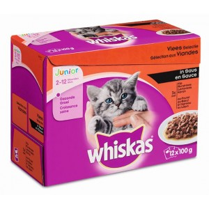 Whiskas Portionsposer Junior kattemad i sauce