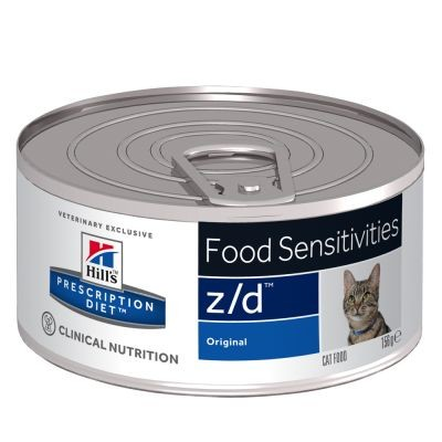 Hill's Prescription Z/D Food Sensitivities kattefoder dåse 156 gram