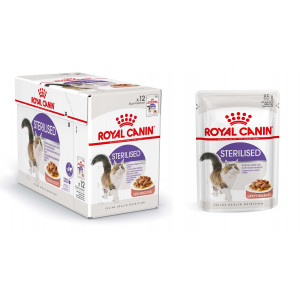 Royal Canin Sterilised vådfoder i sovs eller gelé til katte 12x