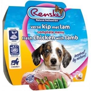 Renske Puppy frisk kylling med lam våd hundefoder (100 gr)