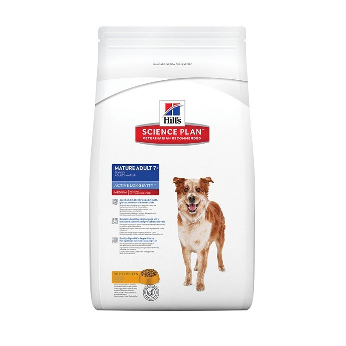 Hill's Mature Adult 7+ Active Longevity Medium Kylling hundefoder