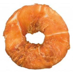 Bøffelhud Donut med Kylling til hunde