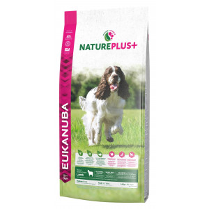 Eukanuba NaturePlus+ Adult Medium Breed Lam hundefoder