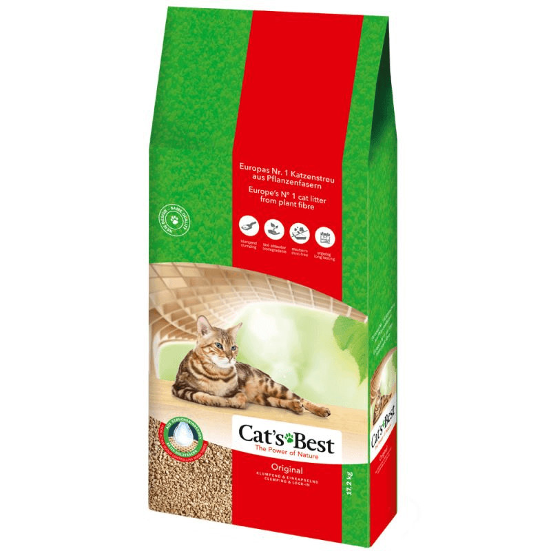 Cats Best Øko Plus Kattegrus 40 liter (17,2 kg)
