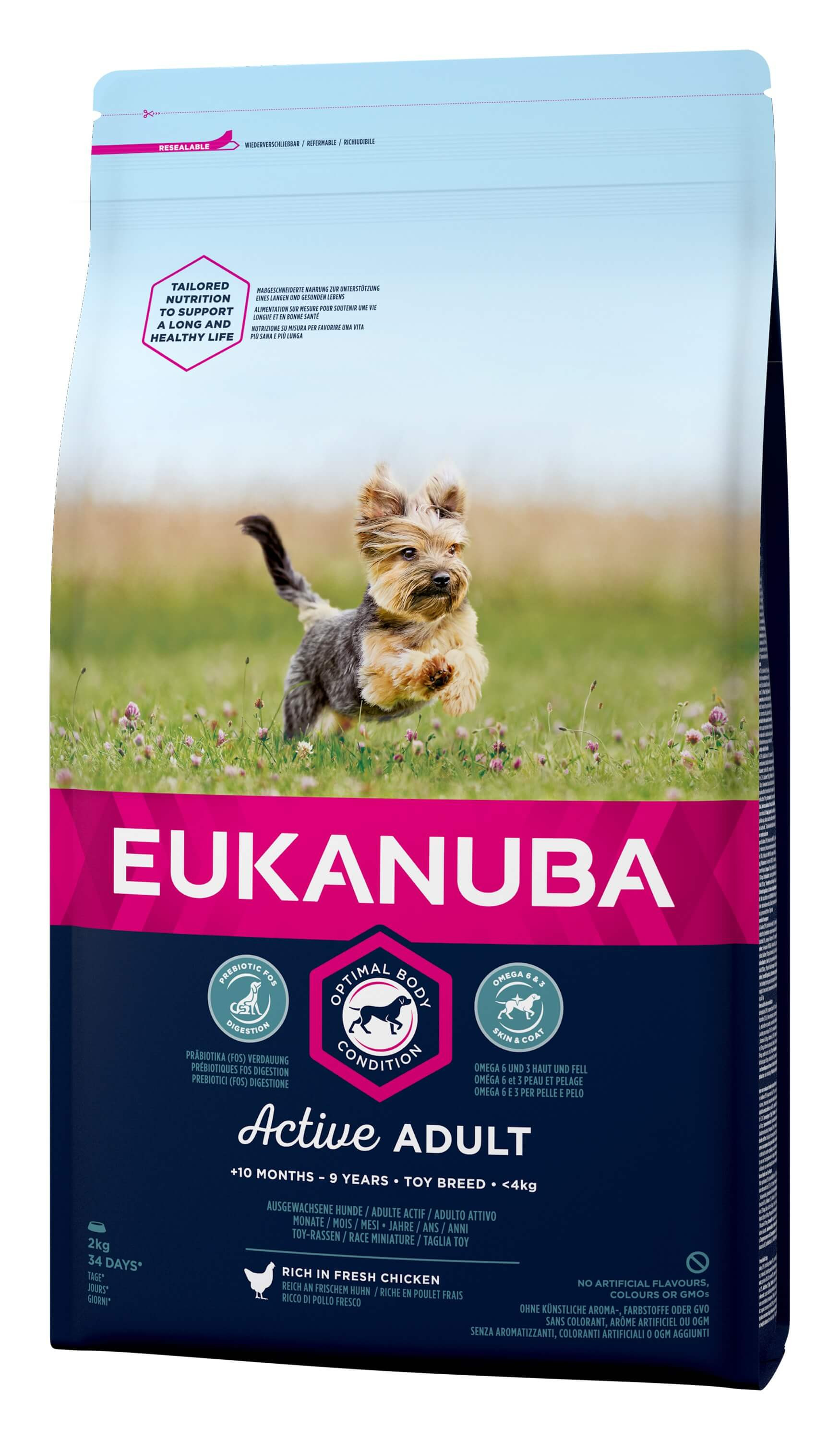 Eukanuba Active Adult Toy Breed kip hondenvoer