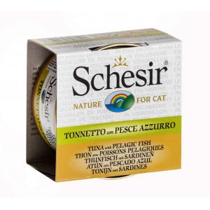 Schesir Tunfisk med sardin i fiskebouillon til katte