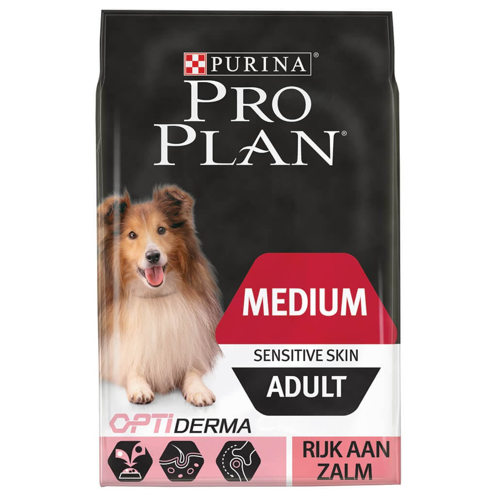Pro Plan Optiderma Adult Medium Sensitive Skin laks hundefoder