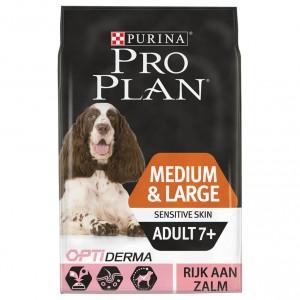 PRO PLANMedium/Large Adult 7+ Sensitive Skin (Senior) hundefoder