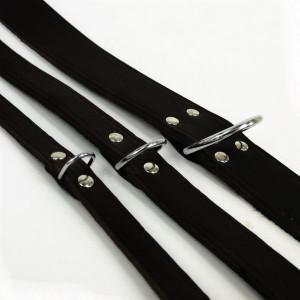 Leren Halsband Zwart