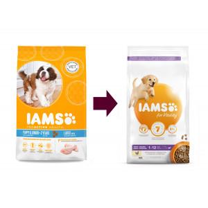 Iams for Vitality Puppy Large Kip hondenvoer