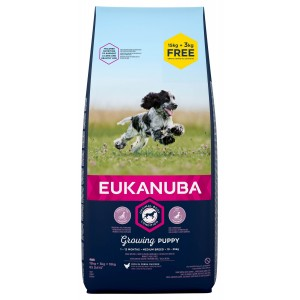 Eukanuba Growing Puppy Medium Breed kip hondenvoer