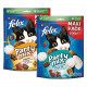 Felix Party Mix Original + Seaside kattesnacks (2x200g)