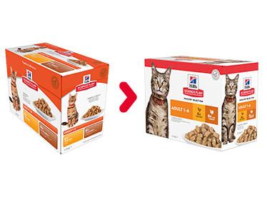 Hill's Adult Poultry Selection Combi måltidsposer kattefoder