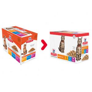Hill's Adult Favourite Selection våd kattefoder 85g multipakke