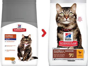 Hill's Mature Adult 7+ Hairball Indoor kylling kattefoder