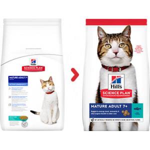 Hill's Mature Adult 7+ med tun kattefoder