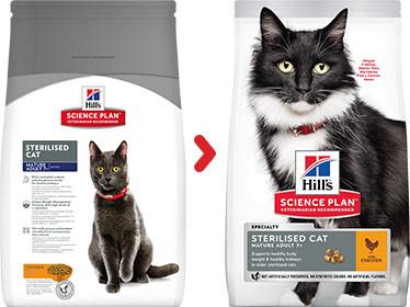 Hill's Mature Adult 7+ Sterilised Cat kylling kattefoder