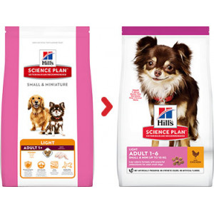 Hill's Adult Small & Miniature Light hundefoder