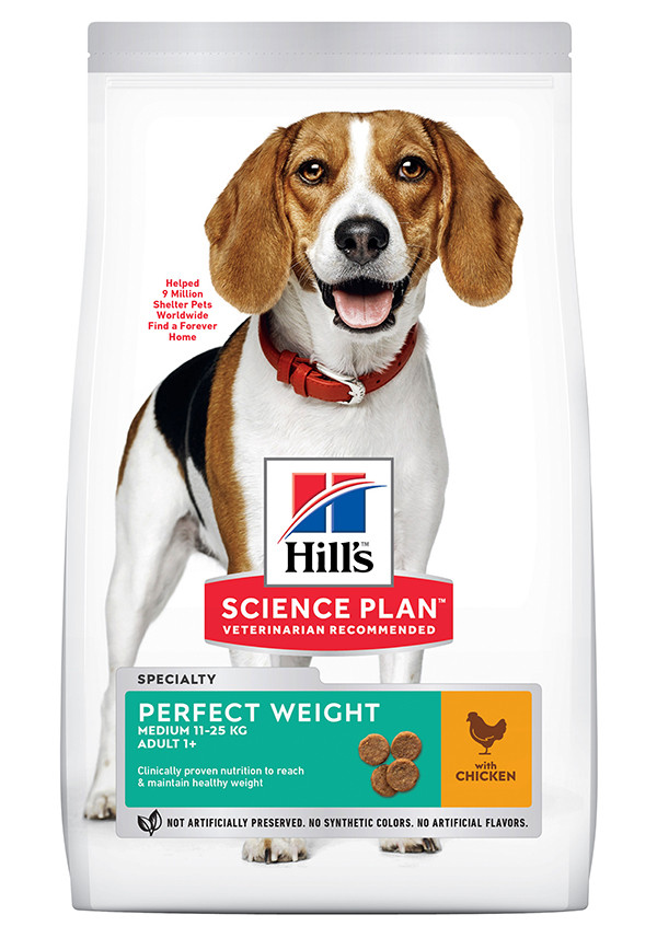 Hill's Adult Perfect Weight Medium kylling hundefoder