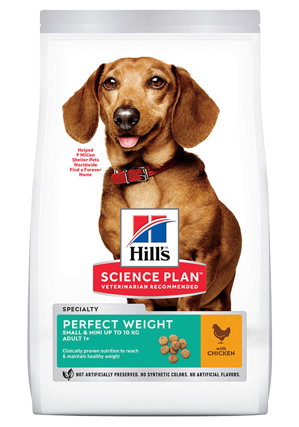 Hill's Adult Perfect Weight Small & Mini kylling hundefoder