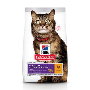 Hill's Adult Sensitive Stomach & Skin kylling kattefoder