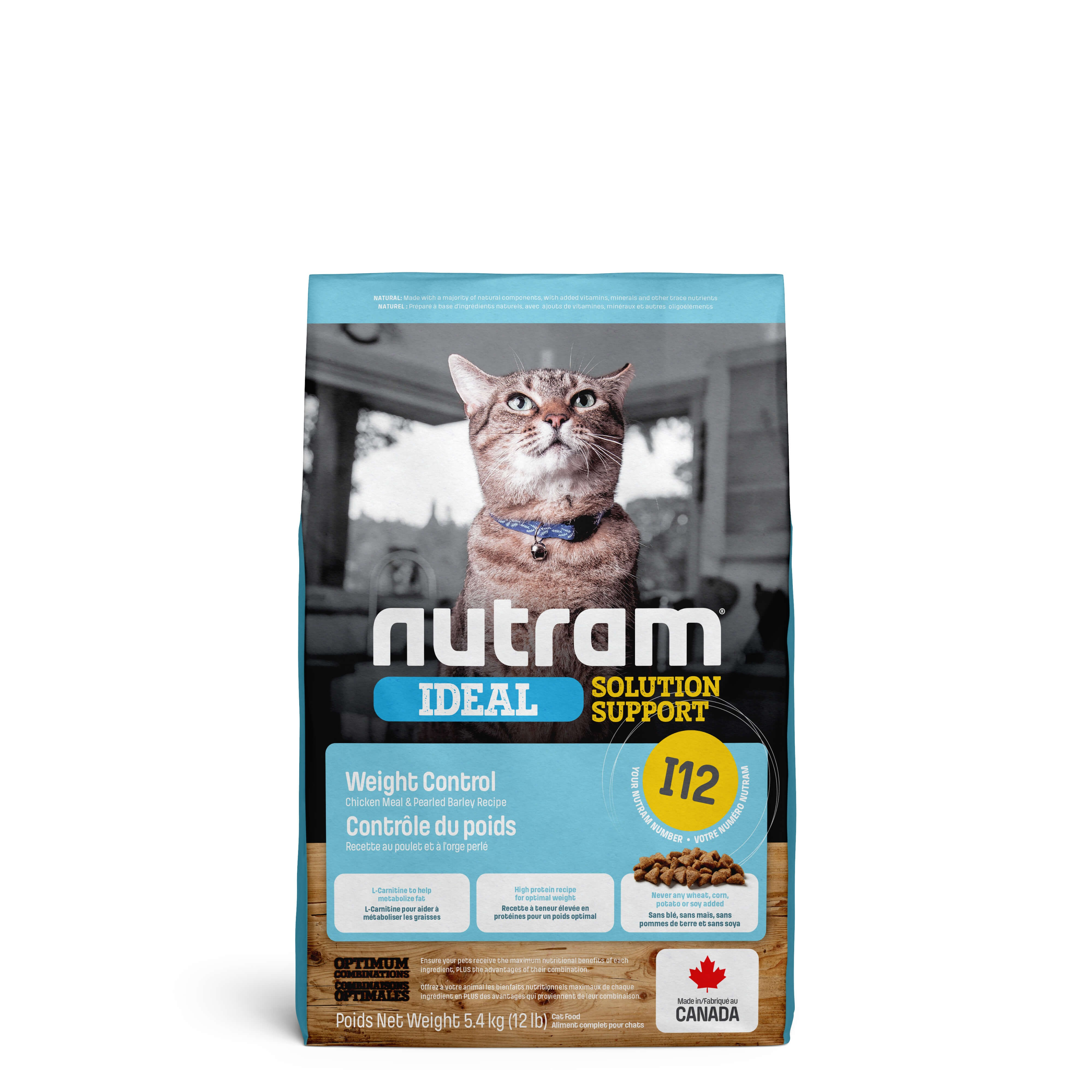Nutram Ideal Solution Support Weight Control I12 kattefoder