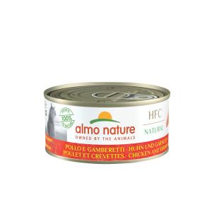 Almo Nature HFC kylling og rejer 140 Gram kattefoder